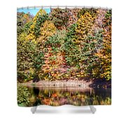 Autumn At The Pond  Shower Curtain