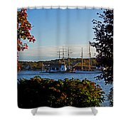 Autumn At The Seaport Shower Curtain