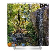 Autumn At The Waterfall Shower Curtain