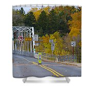 Autumn At Washington's Crossing Bridge Shower Curtain