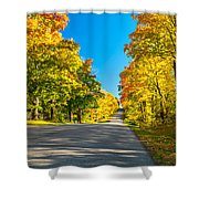 Autumn Back Road Shower Curtain