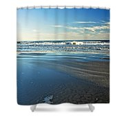 Relaxing Autumn Beach  Shower Curtain