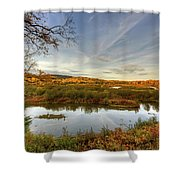 Autumn Borders Shower Curtain