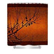 Autumn Branches Shower Curtain