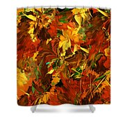 Autumn Burst Shower Curtain