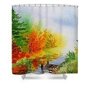 Autumn Burst Of Fall Impressionism Shower Curtain