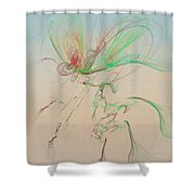 Autumn Butterfly Abstract Shower Curtain