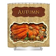 Autumn Button Shower Curtain by Mike Savad