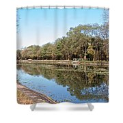 Autumn By The Erie Canal Shower Curtain