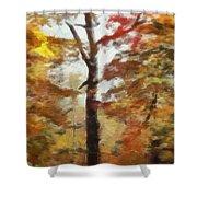 Autumn Canvas Shower Curtain