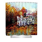 Autumn Carriage Shower Curtain