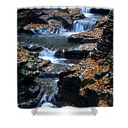 Autumn Cascade Shower Curtain by Frozen in Time Fine Art Photography