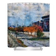 Autumn Chicago White Sox Us Cellular Field Mixed Media 03 Shower Curtain