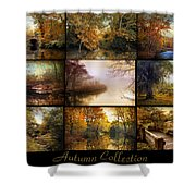 Autumn Collage Shower Curtain