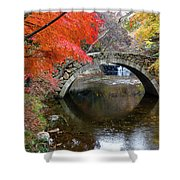 Autumn Color And Old Stone Arched Shower Curtain