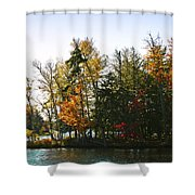 Autumn Color On The Fulton Chain Of Lakes Shower Curtain