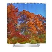 Autumn Colors I Digital Paint Shower Curtain