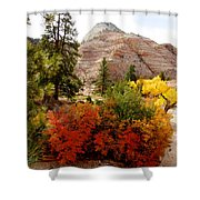 Autumn Colors In Zion's Highlands-ut Shower Curtain