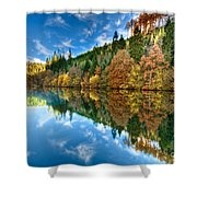 Autumn Colour Staindale Lake Shower Curtain