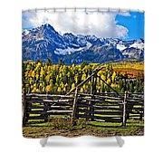 Autumn Corral Shower Curtain