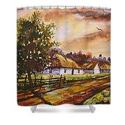 Autumn Cottages Shower Curtain