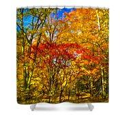 Autumn Cul-de-sac - Paint Shower Curtain