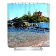 Rocky Shore Shower Curtain