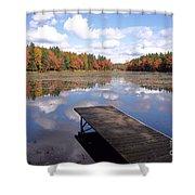 Autumn Dock Shower Curtain