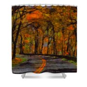 Autumn Drive Freedom And Beauty Shower Curtain
