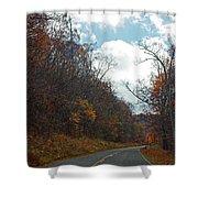 Autumn Drive2581 Shower Curtain