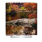 Autumn Duck Couple Shower Curtain