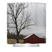 Autumn Dusk On The Farm Shower Curtain