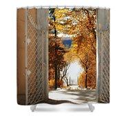 Autumn Entrance Shower Curtain