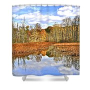 Autumn Fades Shower Curtain