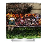 Autumn - Family Reunion Shower Curtain by Mike Savad