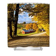 Autumn Farm In Vermont Shower Curtain