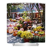 Autumn Farmers Market By Karen E. Francis Shower Curtain