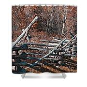 Autumn Fence Shower Curtain