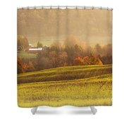 Autumn Fields Shower Curtain