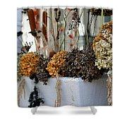 Autumn Flower Box Shower Curtain