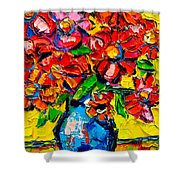 Autumn Flowers 7 Shower Curtain
