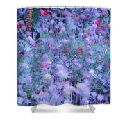 Autumn Flowers In Blue Shower Curtain