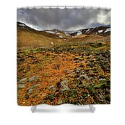 Autumn Foliage And Snowcapped Mountain Shower Curtain