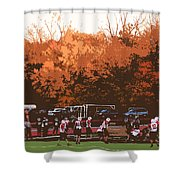 Autumn Football With Cutout Effect Shower Curtain