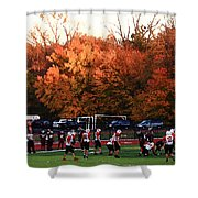 Autumn Football With Dry Brush Effect Shower Curtain