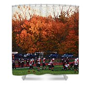 Autumn Football With Sponge Painting Effect Shower Curtain