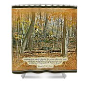 Autumn Forest - George Washington Carver Quote Shower Curtain