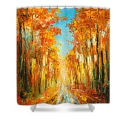 Autumn Forest Impression Shower Curtain