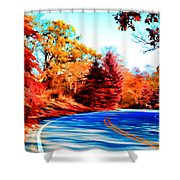 Autumn Forest Road V7 Shower Curtain