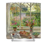 Autumn Fruit And Flowers Shower Curtain